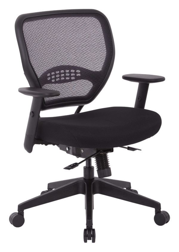 Air Grid and Mesh Office Chair - Black - SPACE SEATING - Professional - Commercial