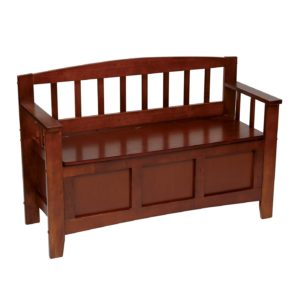 Metro Entry Way Bench - Walnut finish - OSP Home Furnishings - Transitional - Residential