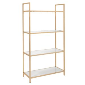Alios Bookcase - White/Gold - OSP Home Furnishings - Contemporary - Residential