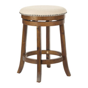 Round Backless Swivel Stool 2-Pack - Burnt Brown - OSP Home Furnishings - Contemporary - Residential