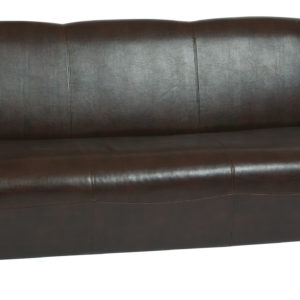 Mocha Bonded Leather Sofa - Cherry - OSP Furniture - Contemporary - Commercial