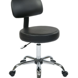 Pneumatic Drafting Chair - Black - Work Smart - Contemporary - Residential
