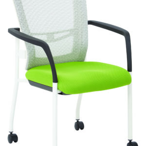 ProGrid Mesh Back Visitors Chair - White / Green - Pro-Line II - Contemporary - Commercial