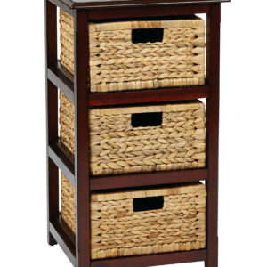 Seabrook Three-Tier Storage Unit - Espresso - OSP Home Furnishings - Country - Residential
