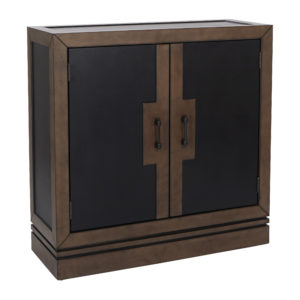 Bergamo Storage Console - Coffee/Tan - OSP Home Furnishings - Transitional - Residential