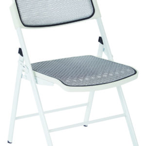 ProGrid Mesh Seat and Back Folding Chair - White - Pro-Line II - Professional - Commercial