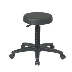 Backless Drafting Stool - Black - Work Smart - Contemporary - Commercial