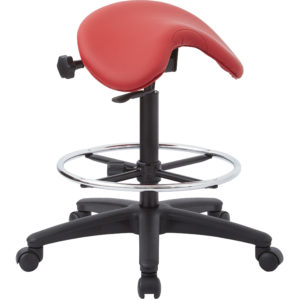 Backless Stool with Saddle Seat - Dillon Lipstick - Work Smart - Contemporary - Commercial