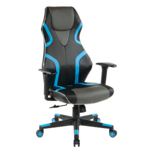 Rogue Gaming Chair - Black / Blue - OSP Home Furnishings - Modern - Residential