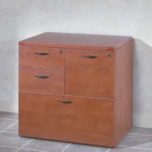 """Napa MultiFile Ped 31""""x23""""x29"""" - Cherry - OSP Furniture - Contemporary - Commercial"""