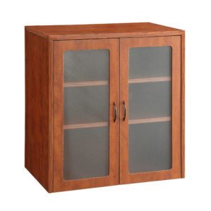 """Napa 37""""H Storage Cabinet, Glass/Wood Doors - Cherry - OSP Furniture - Commercial"""