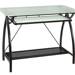 Newport Computer Desk - Black - OSP Home Furnishings - Industrial - Residential