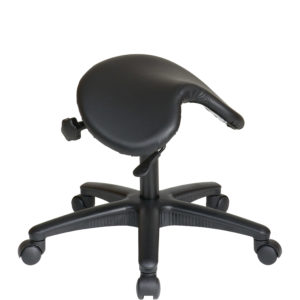 Pneumatic Drafting Chair - Black - Work Smart - Contemporary - Commercial