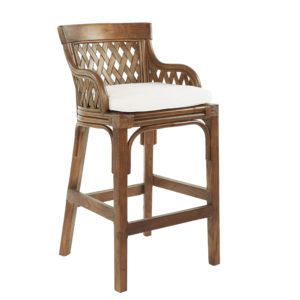 Plantation Bar Stool - Brown Stain - OSP Home Furnishings - Residential