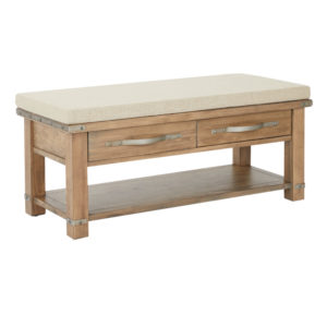 Matera Bench - Natural Soap - OSP Home Furnishings - Industrial - Residential
