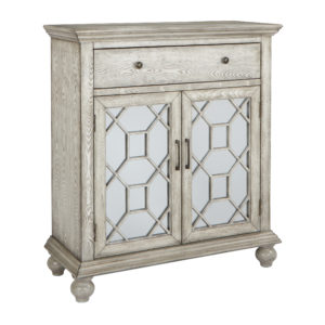 Mancini 2 Door Cabinet - Brushed Pristine Beige - OSP Home Furnishings - Contemporary - Residential