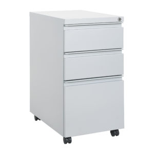 """22"""" Closed Top Mobil Pedestal - Silver - OSP Furniture - Professional - Commercial"""