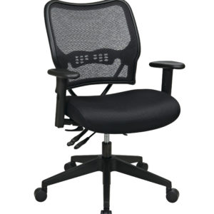 Deluxe Chair with AirGrid Back - Black - SPACE SEATING - Contemporary - Commercial