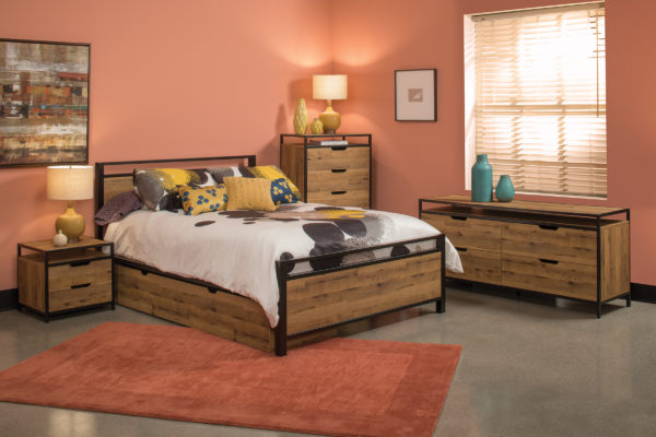Quinton 6pc Bedroom Set - Salvage Oak - OSP Home Furnishings - Residential