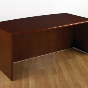 Sonoma Bow Top Desk Shell, 72X39 - Dark Cherry - OSP Furniture - Contemporary - Commercial