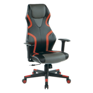 Rogue Gaming Chair - Black / Red - OSP Home Furnishings - Modern - Residential