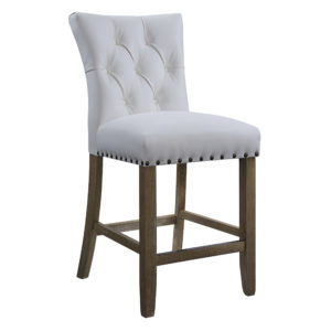 "Preston 24"" Counter Stool - White Faux - OSP Home Furnishings - Contemporary - Residential"
