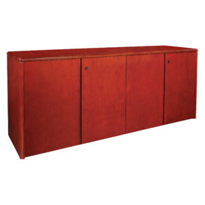 "Sonoma 4 Door Credenza 72""X20""29"" - Dark Cherry - OSP Furniture - Contemporary - Commercial"