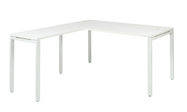 Prado Complete White L-Workstation - White - OSP Home Furnishings - Modern - Commercial & Residential