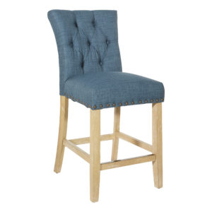 "Preston 24"" Counter Stool - Milford Indigo - OSP Home Furnishings - Contemporary - Residential"