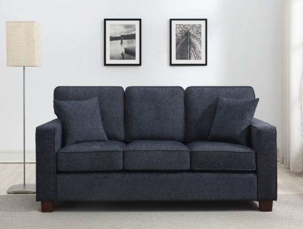 Russell 3 Seater Sofa - Navy - OSP Home Furnishings - Residential