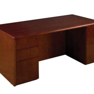 "Sonoma Double Pedestal Desk 72""X36"" - Dark Cherry - OSP Furniture - Commercial"