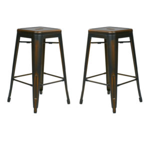 """Bristow 26"""" Antique Metal Barstools - Antique Copper - OSP Home Furnishings - Modern - Commercial & Residential"""