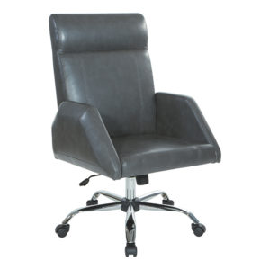 Rochester Executive Chair - Charcoal - OSP Home Furnishings - Contemporary - Residential