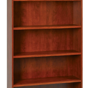 """36Wx12Dx72H 5-Shelf Bookcase with 1"""" Thick Shelves - - Cherry - OSP Furniture - Transitional - Commercial"""