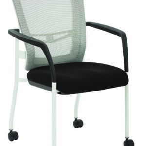 ProGrid Mesh Back Visitors Chair - White/Black - Pro-Line II - Contemporary - Commercial
