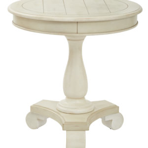 Avalon Round Accent table - Antique Beige - OSP Home Furnishings - Traditional - Residential