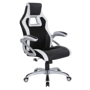Race Chair - Black/White - OSP Home Furnishings - Eclectic - Residential
