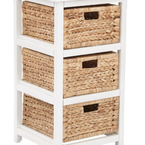 Seabrook Three-Tier Storage Unit - White - OSP Home Furnishings - Country - Residential