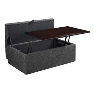 Elmington Storage Ottoman - Charcoal - OSP Home Furnishings - Contemporary - Residential