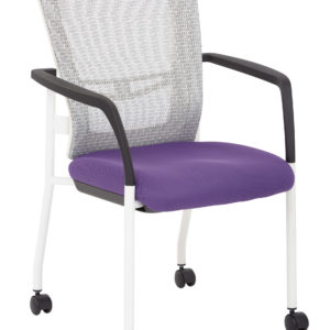 ProGrid Mesh Back Visitors Chair - White / Purple - Pro-Line II - Contemporary - Commercial