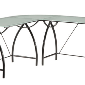 Newport L-Shape Computer Desk - Black - OSP Home Furnishings - Industrial - Residential