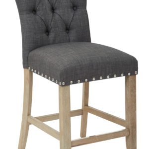 "Preston 24"" Counter Stool - Marlow Charcoal - OSP Home Furnishings - Contemporary - Residential"