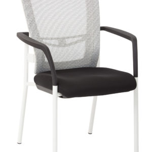 ProGrid Mesh Back Visitors Chair - White / Black - Pro-Line II - Contemporary - Commercial