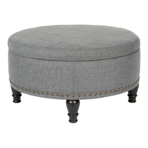 Augusta storage Ottoman - Stone - OSP Home Furnishings - Midcentury - Residential