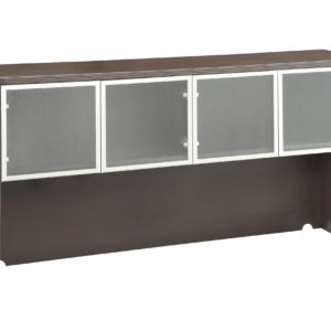 Overhead with Glass Doors 71 x 15 x 36 - Espresso - OSP Furniture - Commercial