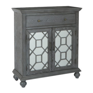 Mancini 2 Door Cabinet - Brushed Ash - OSP Home Furnishings - Contemporary - Residential