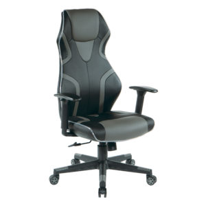 Rogue Gaming Chair - Black / Grey - OSP Home Furnishings - Modern - Residential