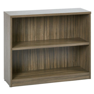"""36Wx12Dx30H 2-Shelf Bookcase with 1"""" Thick Shelves - Urban Walnut - OSP Furniture - Transitional - Commercial"""
