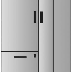 """Napa Storage Cabinet 22.5""""X24""""X65"""" - Slate Grey - OSP Furniture - Contemporary - Commercial"""