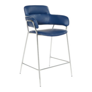 "Reese 26"" Counter Stool - Navy - OSP Home Furnishings - Midcentury - Residential"